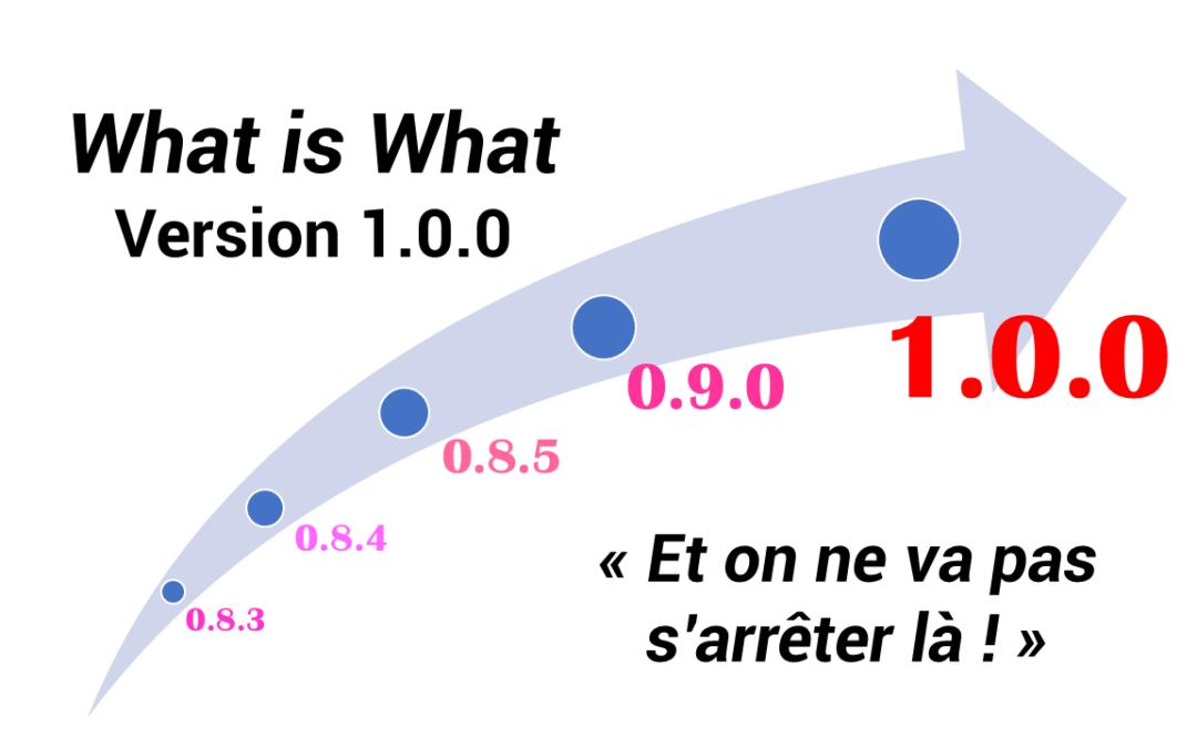 La version 1.0 du What is What a été présentée lors de la foire de Hanovre.